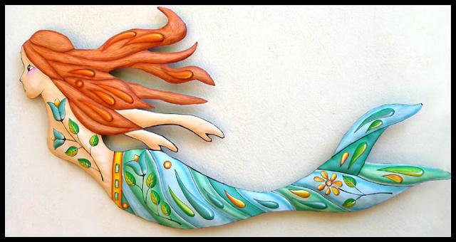 metal fish art wall decor.htm mermaid outdoor metal art  tropical decor  handcrafted mermaid  mermaid outdoor metal art  tropical