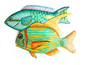 metal fish art wall decor.htm tropical fish metal art designs handcrafted tropical decor  tropical fish metal art designs