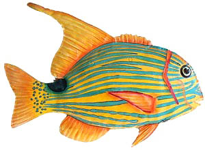 metal fish art wall decor.htm gold   turquoise tropical fish handcrafted hand painted haitian  handcrafted hand painted haitian