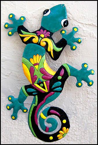 Gecko Wall Art Indoor Or Outdoor, Outdoor Metal Artwork