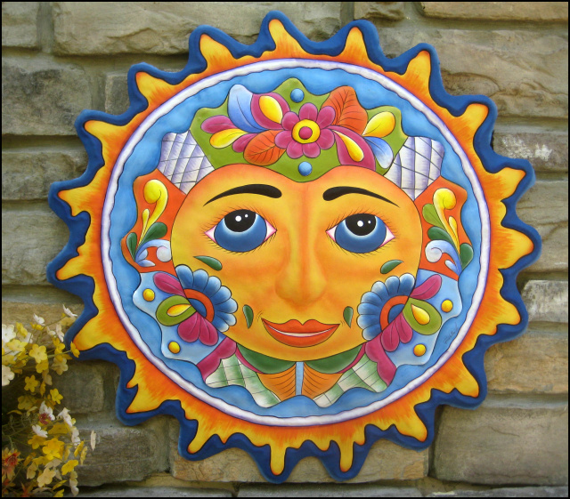 Handcrafted Metal Sun Wall Hanging